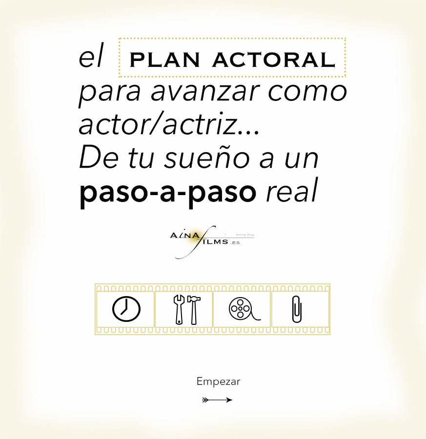 Botón Plan Actoral acting blog ainafilms