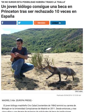 Es como ser actor o actriz en España
