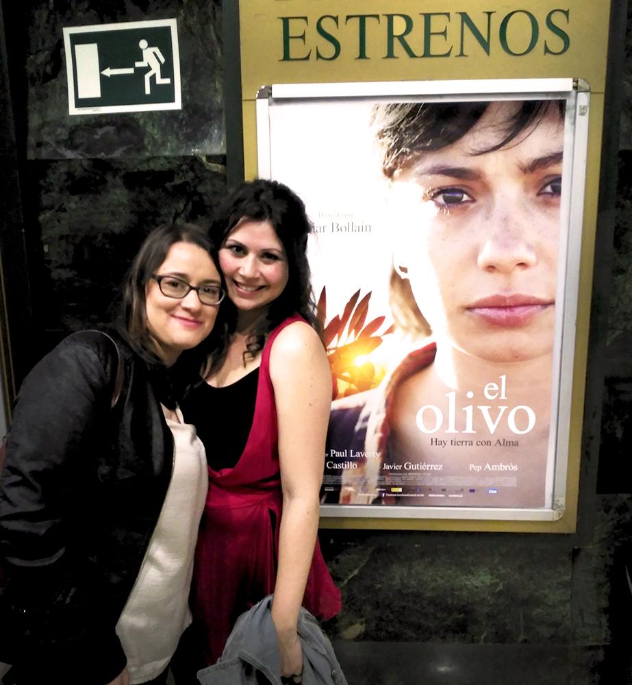 Aina Requena y Patricia Romera en el estreno de El Olivo