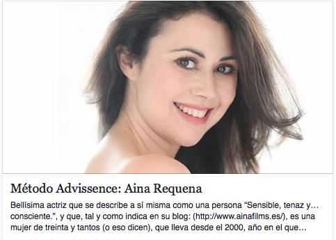 Foto de la entrevista a la actriz Aina Requena